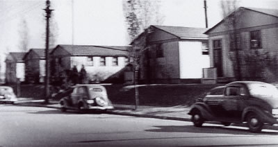 "The ""Pernod Portables"" in 1938 before Mallinckrodt School was built."
