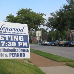 Old General Membership Meeting sign which indicates the former Union United Methodist Church