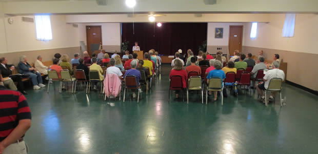 General membership meeting, Union United church basement.